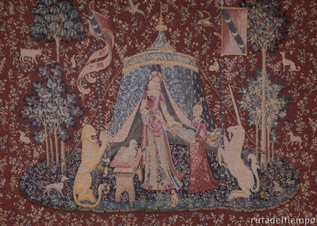 tapiz dama y unicornio